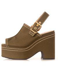 Marni Canvas Platform Sandal - Brown