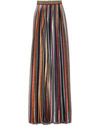 Missoni Long Skirt In Gold Multi Stripe - Multicolour