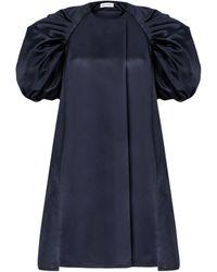 Dice Kayek Puff Sleeve Dress - Blue