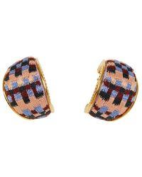Mignonne Gavigan Kilim Huggie Hoop Earring - Multicolour