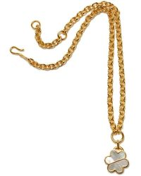 Lizzie Fortunato Daisy Chain Necklace In Mother Of Pearl - Metallic