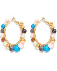 Mignonne Gavigan Cleo Beaded Hoop Earring - Blue