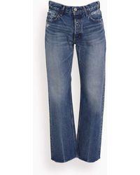 Moussy Mv Ashleys Wide Straight Jean - Blue