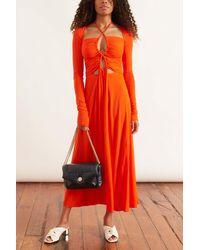 Proenza Schouler Matte Jersey Drawstring Dress - Red