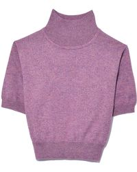 Rachel Comey - Cropped Tee In Lilac - Lyst