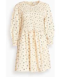Apiece Apart Aldea Smocked Mini Dress - Natural