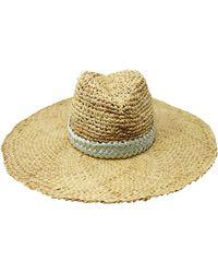 Gigi Burris Millinery - Santiago Hat In Natural/mint - Lyst