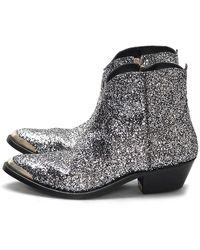 Golden Goose Deluxe Brand Young Glittered Western Boots - Black