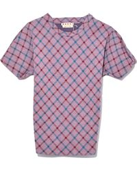 Marni - Short Sleeve Sweatshirt In Mauve - Lyst