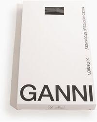 Ganni Lace Tights - White