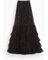 Giambattista Valli Layered Tulle Maxi Skirt - Black