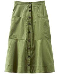 Tibi Harrison Chino Patch Pocket Skirt - Green