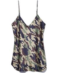 Nili Lotan - Isabella Cami Top In Light Green Camouflage - Lyst