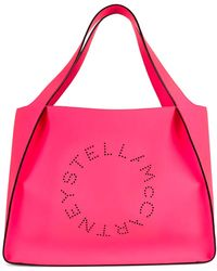 b714b236418cc Stella Mccartney Pink Fluo Falabella Shaggy Deer Small Tote in Pink ...