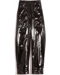 Tibi Patent Sculpted Pant - Black