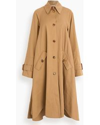 JW Anderson Curved Hem A-line Trench Coat - Multicolor