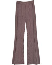 Rosetta Getty Pull On Cropped Flare Pant - Brown
