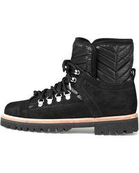 Ganni - Winter Hiking Boot In Black - Lyst
