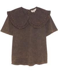 Sea Hildur Acid T Shirt - Brown