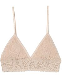 Hanky Panky Padded Triangle Bralette In Chai - Natural