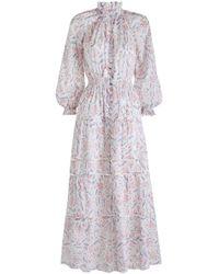 Zimmermann Zephyr Folk Dress - Brown