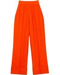 Dice Kayek Wide Leg Trousers - Orange