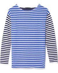 Jenni Kayne - Striped Boatneck Top In White/blue - Lyst