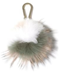Yves Salomon Fox Pompom Keychain - Multicolor