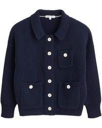 Alex Mill Work Jumper Jacket In Dark Navy - Blue