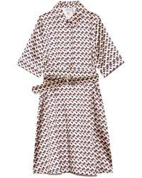 Dice Kayek Belted Dress - Multicolour
