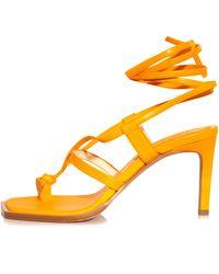Tibi Ryo Glove Sandal - Orange