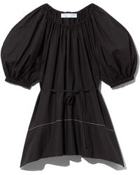 PROENZA SCHOULER WHITE LABEL Poplin Full Sleeve Blouse - Black