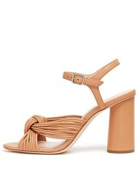 Loeffler Randall Cece High Heel Knot Ankle Strap Sandal In Dune - Multicolour