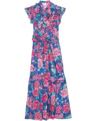 Loretta Caponi Paola Dress - Blue
