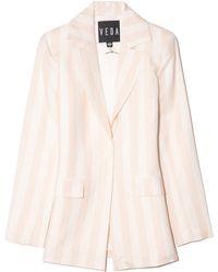 VEDA Uno Linen Blazer - Natural