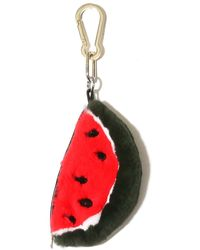 Yves Salomon Rabbit Watermelon Keychain - Red