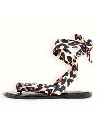 Ganni Recycled Tech Fabric Sandals - Black
