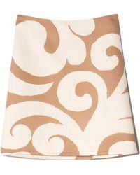 Marni Cotton Drill Mini Skirt - Natural