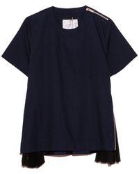 Sacai Cotton Poplin Pullover - Blue