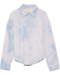 Raquel Allegra Zip Collar Sweatshirt - White