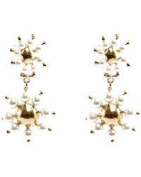 Rosantica Daisy Double-drop Earrings - Metallic
