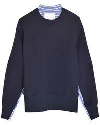 Sacai Sponge Sweatshirt - Blue