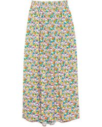 Tibi Sabine Floral Pull On Cocoon Skirt - Multicolour