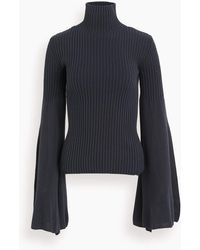 JW Anderson Roll Neck Long Sleeve Top - Blue