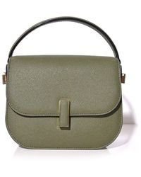 Valextra Iside Bag With Strap In Verde Militare - Green