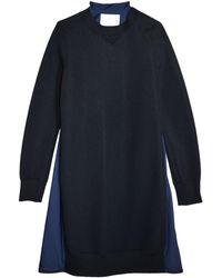 Sacai Sponge Sweat Dress - Blue
