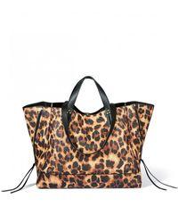 Jérôme Dreyfuss Georges Large Bag In Print Leopard - Brown