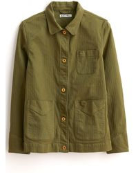 Alex Mill Garment Dyed Work Jacket In Army Olive - Green