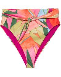 Mara Hoffman Goldie High-waisted Bikini Bottoms - Pink