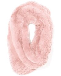 Yves Salomon Knitted Rabbit Snood - Pink